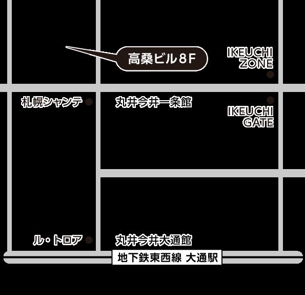 札幌大通会場地図